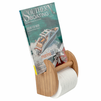Teak Magazine & Toilet Paper Holder
