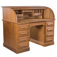 Teak Roll-Top Desk