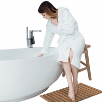 Teak Roll-Up Shower Mat