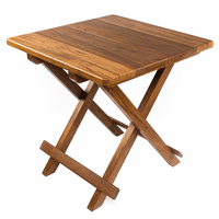 Teak Solid Top Fold-Away Table