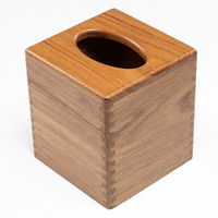 Teak Tissue Box Holder