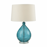 Teal Glass Teardrop Table Lamp