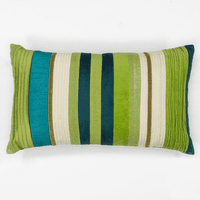 Teal Green Stripes Pillow