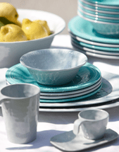 Teal Ripples Dinnerware Collection