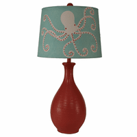 Teardrop Table Lamp with Octopus Shade