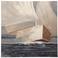 Textured Sailboat II Canvas Wall Art