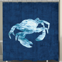 The Abyss Crab Shower Curtain
