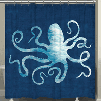 The Abyss Octopus Shower Curtain