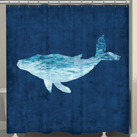 The Abyss Whale Shower Curtain
