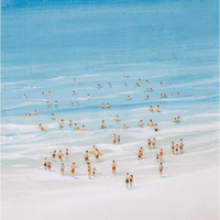 The Beach Crowd I Canvas Art