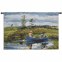 The Blue Boat Wall Tapestry
