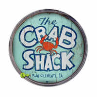 The Crab Shack Personalized Barrel End