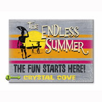 The Endless Summer The Fun Starts Here Personalized Signs