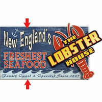 The Lobster House Personalized Wood Signs