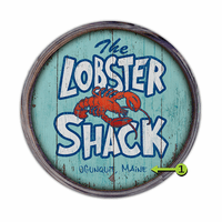 The Lobster Shack Personalized Barrel End
