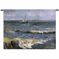 The Sea at Les Saintes Maries de la Mer Wall Tapestry