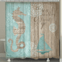 The Sea is Calling Shower Curtain