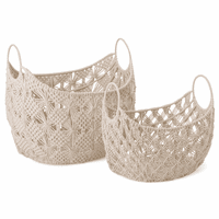 Theodora Macram� Baskets - Set of 2