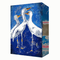 Three Egrets Aluminum Box Wall Art