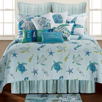 Tidal Wave Turtle Quilt Bedding Collection