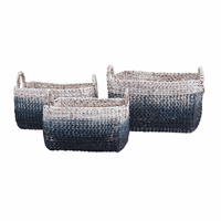 Tide Falls Water Hyacinth Baskets - Set of 3