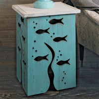 Tidepool Fish Accent Table