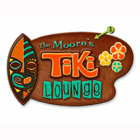 Tiki Lounge Wood Personalized Sign