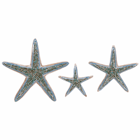 Turquoise Mosaic Starfish Wall Art - Set of 3 - OVERSTOCK