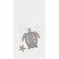 Titus Turtle Waffle Weave Towels - Set of 6