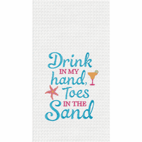 Toes in Sand Waffle Weave Towels - Set of 6