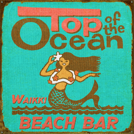 Top of the Ocean Personalized Sign - 18 x 18
