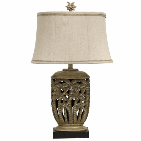 Tortola Cream Palm Tree Table Lamp
