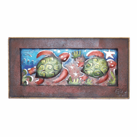 Tortugas Frame Metal Wall Art