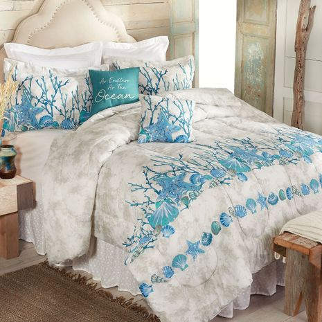 Tranquil Sea Comforter Set - Queen