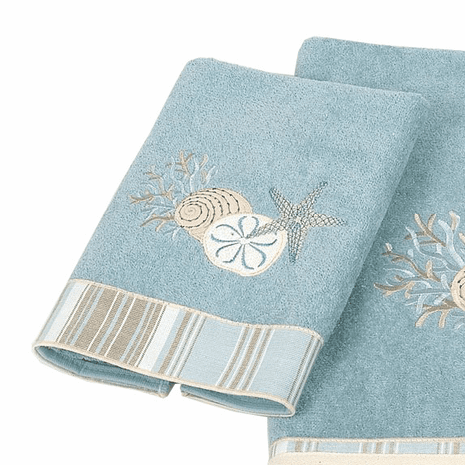 Tranquil Sea Hand Towel - Mineral