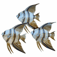 Tres Angelfish Metal Wall Art