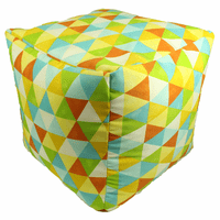 Triangle Explosion Indoor/Outdoor Square Pouf