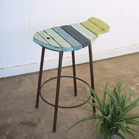 Trinidad Wood Fish Stool