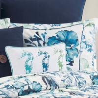 Tropical Blue Beach Pillow