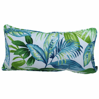 Tropical Blue Palms Indoor/Outdoor Pillow - 24 x 12 - OVERSTOCK