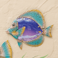 Tropical Butterfly Fish Metal Wall Art