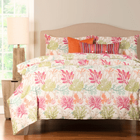 Tropical Coral 5 Piece Duvet Set - Twin