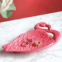 Tropical Flamingo Jewelry Dish