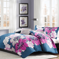 Tropical Flowers Comforter Set - Twin/Twin XL
