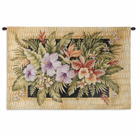 Tropical Flowers Wall Tapestry