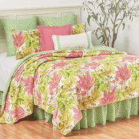 Tropical Foliage Quilt Set - Full/Queen