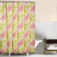 Tropical Foliage Shower Curtain