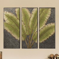 Tropical Fronds Triptych Wall Art - OUT OF STOCK - ETA 3/15/2021