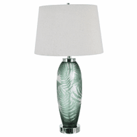 Tropical Glass Table Lamp