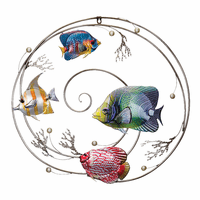 Tropical Jewels Fish Wall Art - Circular - CLEARANCE